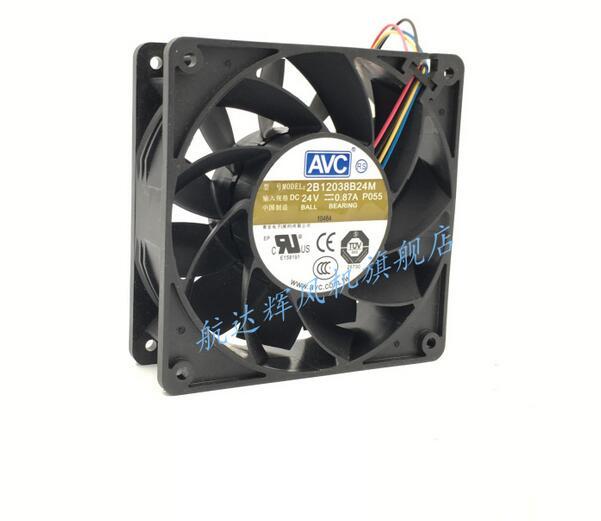 ... AVC 2B12038B24M 12038 24V 0.87A 4 Wire Server Cabinet Cooling Fan