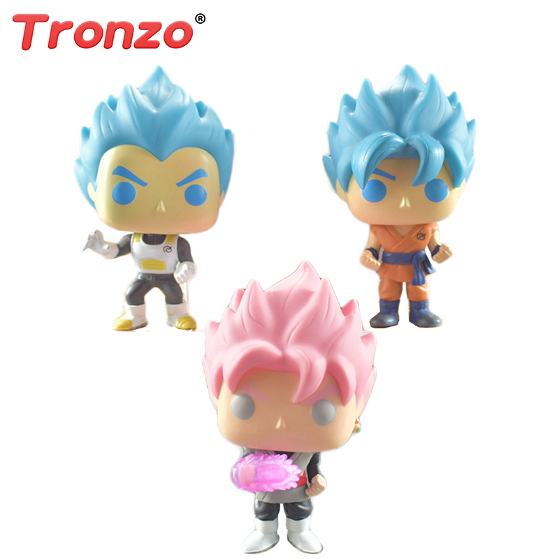 Tronzo POP Dragon Ball Z Model Toy Son Goku PVC Action Figure Super Saiyan Vegeta Doll Collection Toy Gift For Boy Children shfiguarts dragon ball z vegeta pvc action figure collectible model toy 6 5 16cm