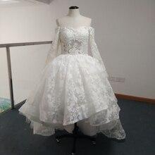 Real Photos vestido de novia 2015 Yousef Aljasmi Myriam Fares Ball Gown Long Sleeve Wedding Dresses