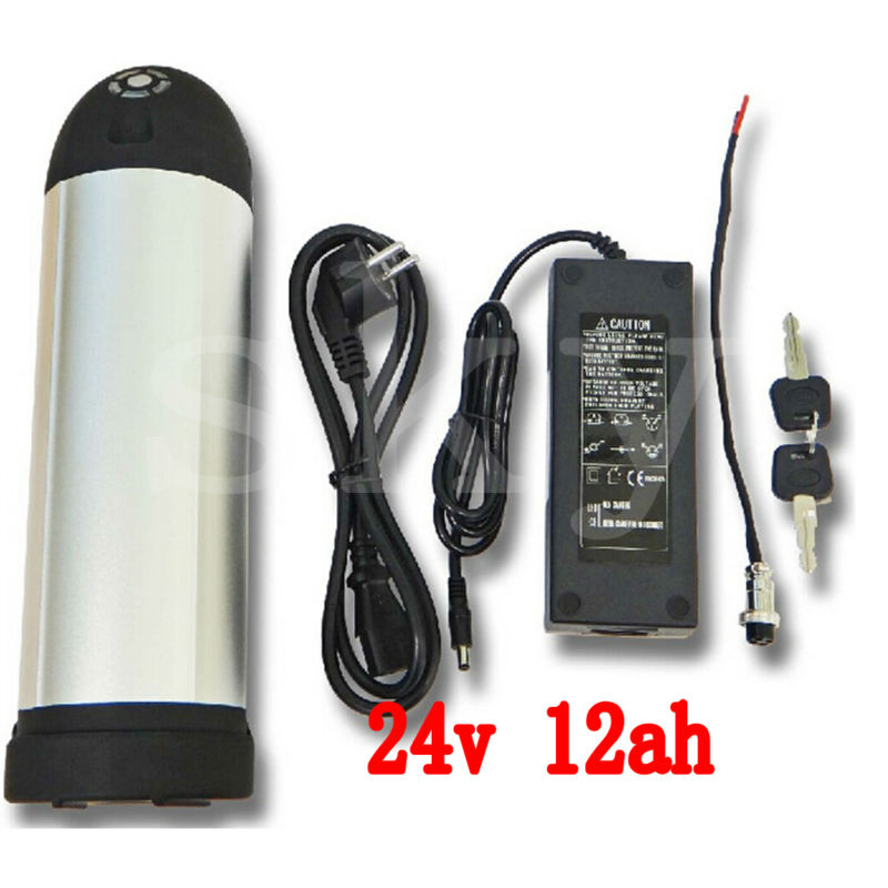 E Bike Battery 24v 12ah 350w Lithium Battery Pack 24v With 2a Charger ,15a Bms 24v Rechargeable Battery Free Shipping e bike battery 24v 10ah 350w lithium electric bike scooter battery 24v with 29 4v 2a charger 15a bms free shipping 24v battery