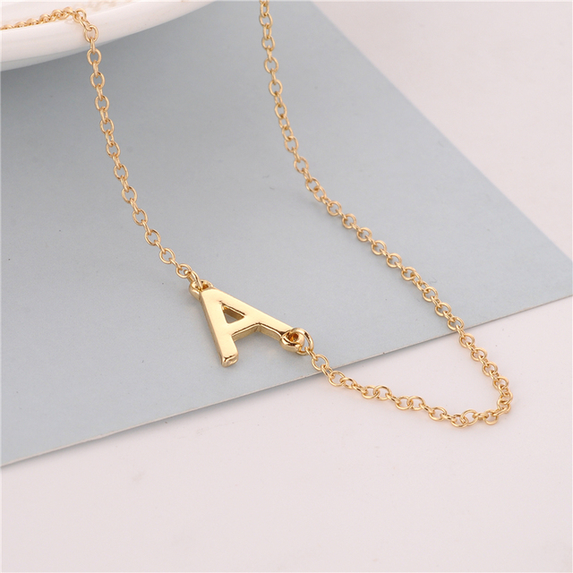 aolo gold letter amazon m necklace jewelry alphabet com initial slp
