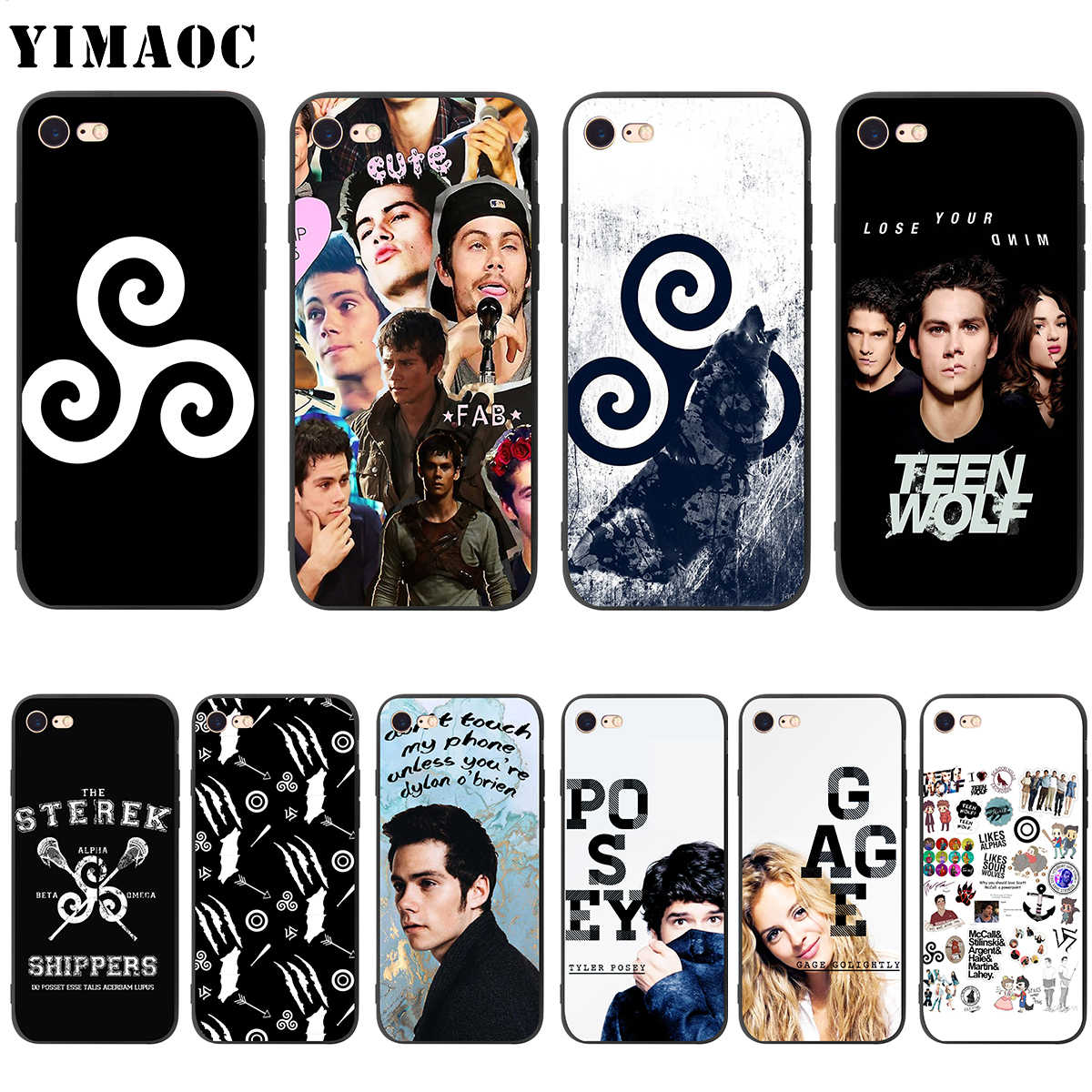 Teen Wolf YIMAOC Dylan Obrien Tyler Posey Soft Case de Silicone para iPhone 11 XS Pro Max XR X 8 7 6 6S Plus 5 5S se
