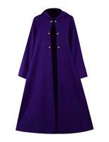 Halloween Steampunk Cloak Women Men Purple Gown Cape Coat Hooded Witch Vampire Cosplay Costume