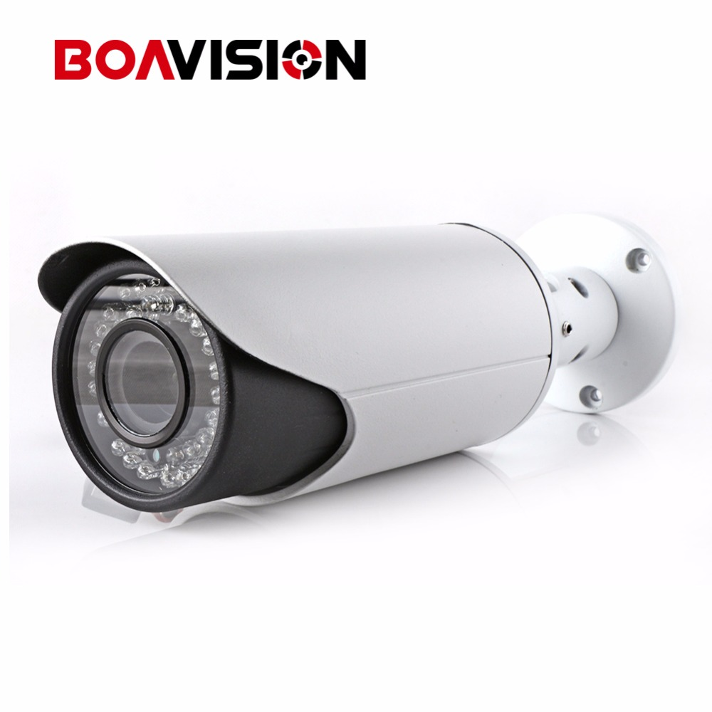 4MP POE IP Camera ONVIF Waterproof Outdoor Bullet CCTV Camera , PC&Mobile View P2P Cloud Auto Iris 2.8-12mm VariFocal Lens 1 to 4 video cutting panorama ir ip camera poe 3mp 360 degrees view fisheye cctv camera support onvif p2p cloud ie view