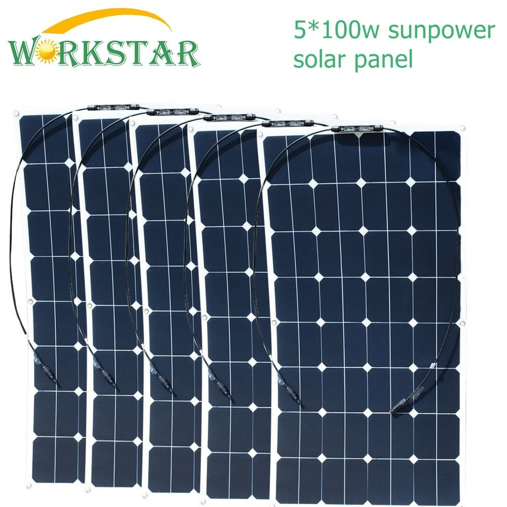 5 100w Sunpower Flexible Solar Panels 18v 100 Watts Solar