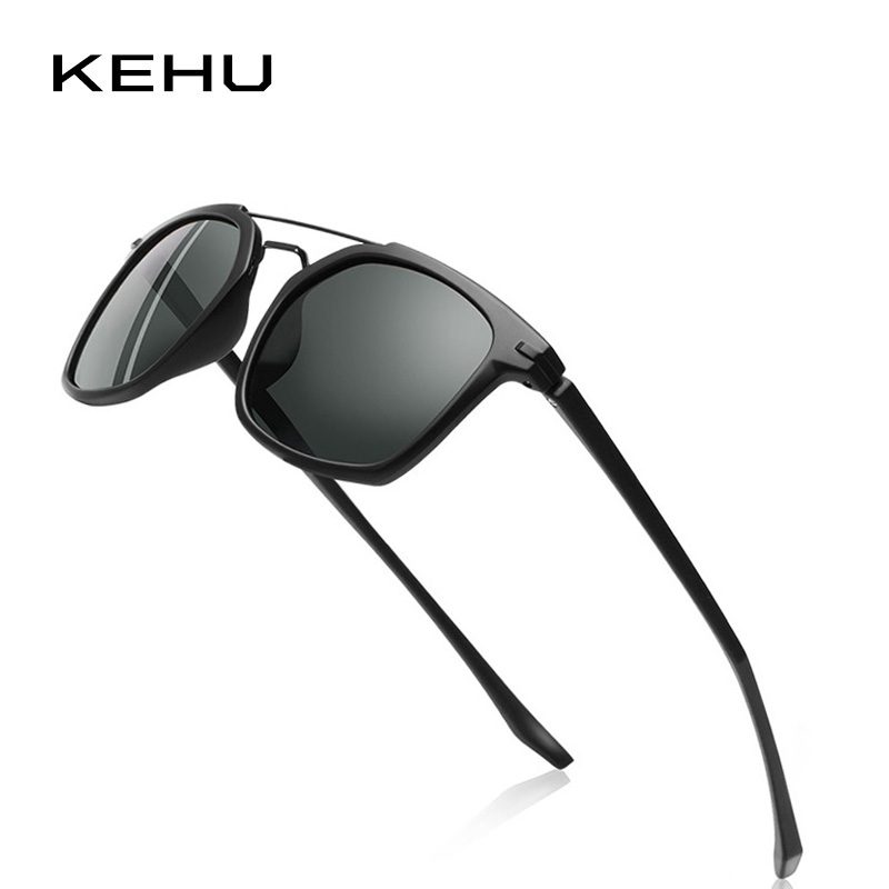 KEHU Men Square Polarized Sunglasses Brand Polarized Eyeglasses - Accesorios para la ropa