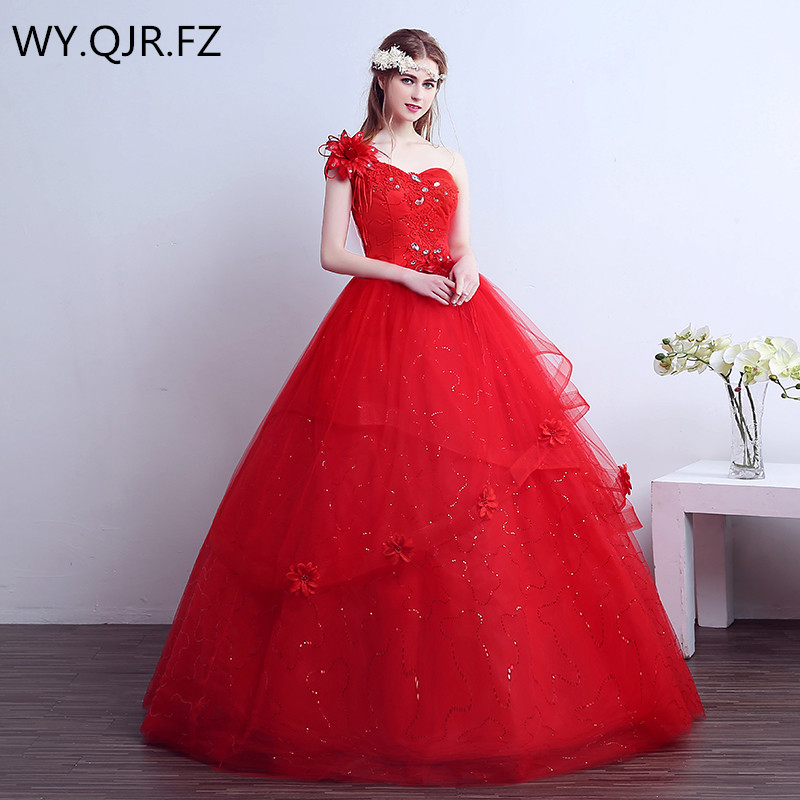 Xxn19hpregnant Woman Lace Up Diamante Red Long Bridesmaid Dresses