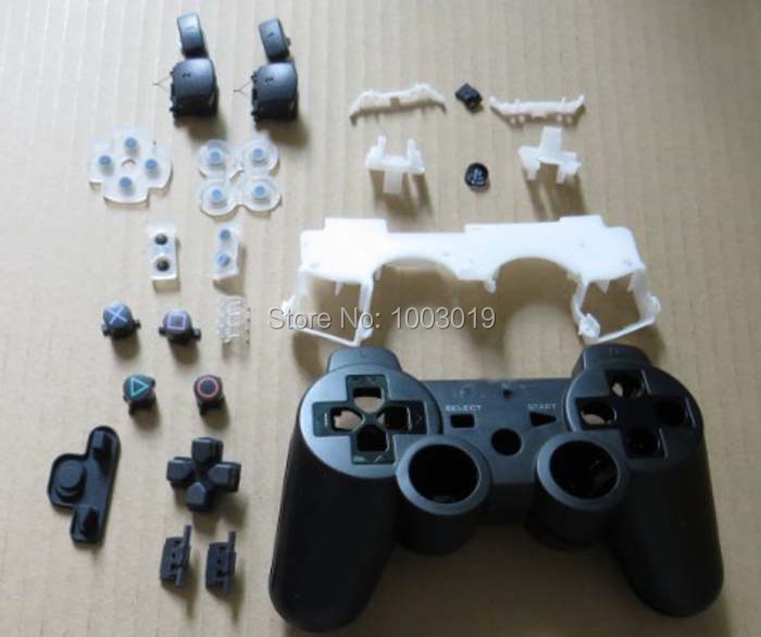 Replacement Housing Shell Case Cover For PS3 Controller Wireless Original With Full Set Buttons For Sixaxis joystick