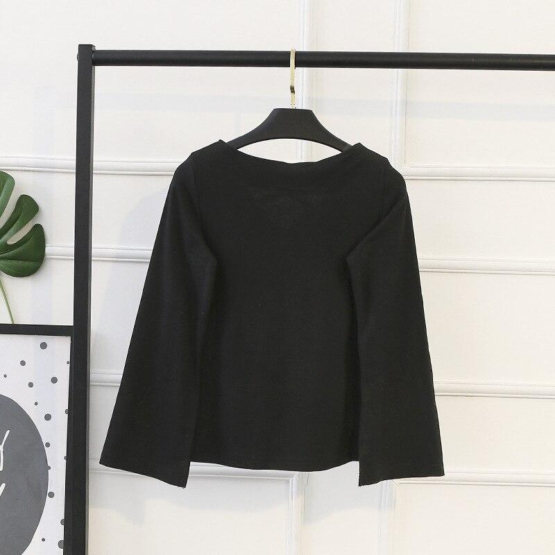 Tops 2018 Plus Chemisier À Casual Hiver La Ubetoku Longues Dames Manches Coton Femmes Chemises Taille Noir Sq4PxZp
