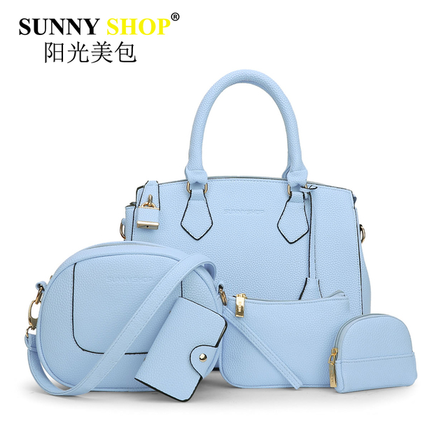 SUNNY SHOP 5 bags for women hot sale casual handbags shoulder bag pu leather messenger bags tassel female clutch phone sac mb30