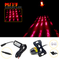 1X ScissorhandsLogo Motorcycle /Car AUTO Rear laser Anti collision lights Rear fog lamp Licence plate light warning Light