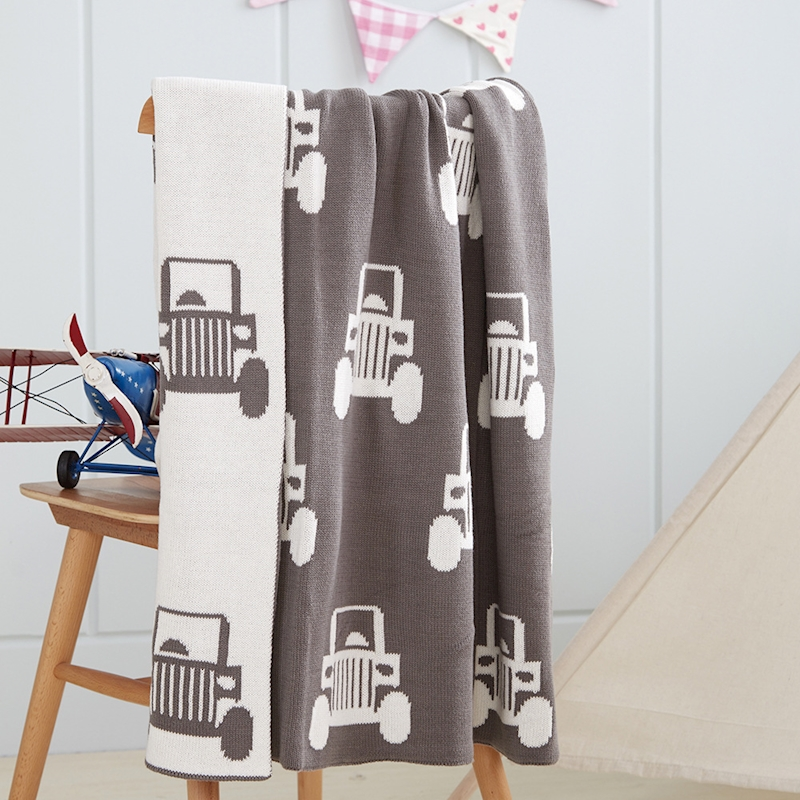 Baby Bed Blanket Knit Newborns Swaddle Cartoon Soft Blankets For Bebek Kundak Baby Deken Katoen Gebreide Katoen Deken BedSpread