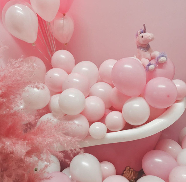 18inch rose gold heart foil balloon 10inch white pink latex balloon confetti balloon wedding decoration birthday party baby toys 1