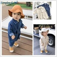 Baby Boys Girls Jeans Overalls Toddler Kids Denim Rompers Cute Cartoon Bebe Jumpsuit Long Children Pants Clothes
