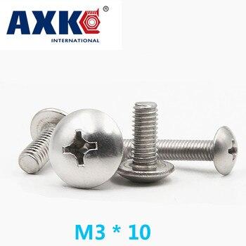 2019 nuevos tornillos de madera Parafusos reales Vis Axk 40 piezas acero inoxidable 304 Cruz empotrada cabeza plana tornillo de la máquina M3 * 10 Jisb1111