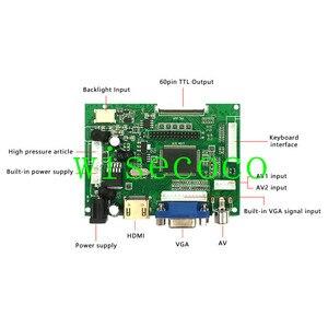 Image 5 - Màn Hình LCD 800*480 TTL LVDS Bộ Điều Khiển Ban VGA 2AV 60 PIN Dành Cho 7 Inch A070VW04 Hỗ Trợ Tự Động Raspberry Pi người Lái Xe Ban