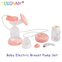 Double Electric Breast Pump Milk Bottle Infant USB BPA free