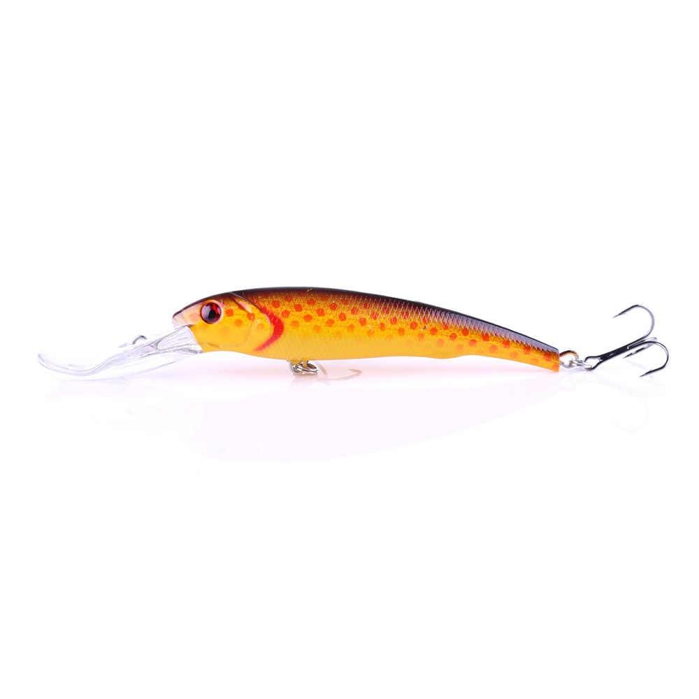 Pesca Crankbait Lure 1 pz Gancio Esca minow 16.5 cm 27.9g Crankbait esche in plastica dura Esca 2 # ganci big minnow barca esca