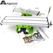 купить Mini precision multifunction worktable BG6300 Bench Vise Fixture drill milling machine X and Y-axis Adjustment Coordinate table по цене 1978.56 рублей