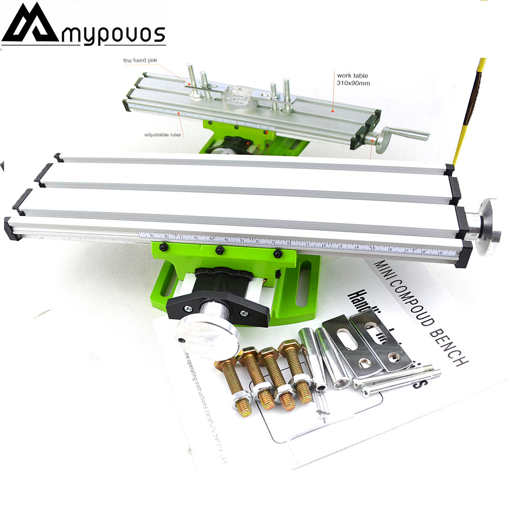 цена на Miniature precision multifunction Milling Machine Bench drill Vise Fixture worktable X Y-axis adjustment Coordinate table