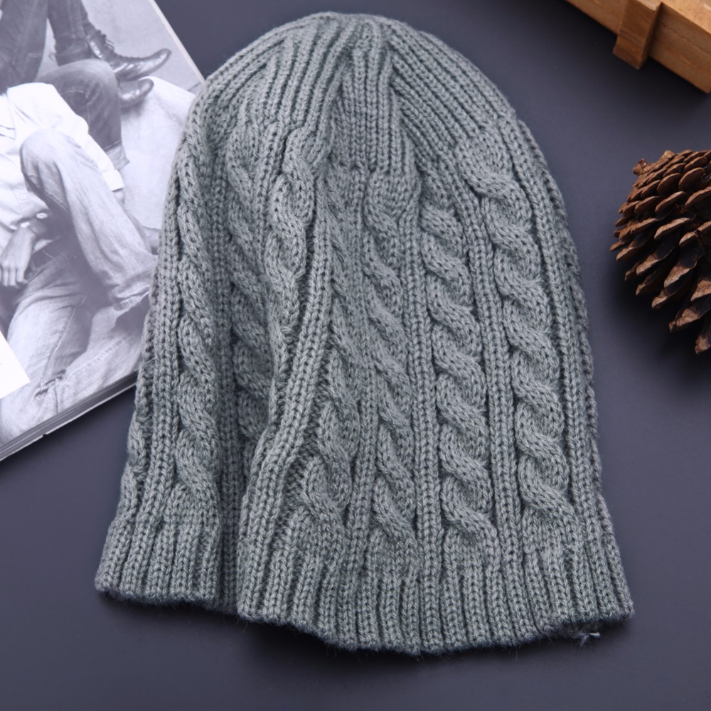Casual Beanies Cap for Men Women Fashion Knitted Winter Autumn Hat Solid Color Hip-hop Skullies Bonnet Unisex Cap Warm Gorro 1pcs unisex knitted winter cap hats skullies casual beanies solid color hip hop hat for women men feminino bone warm thick caps