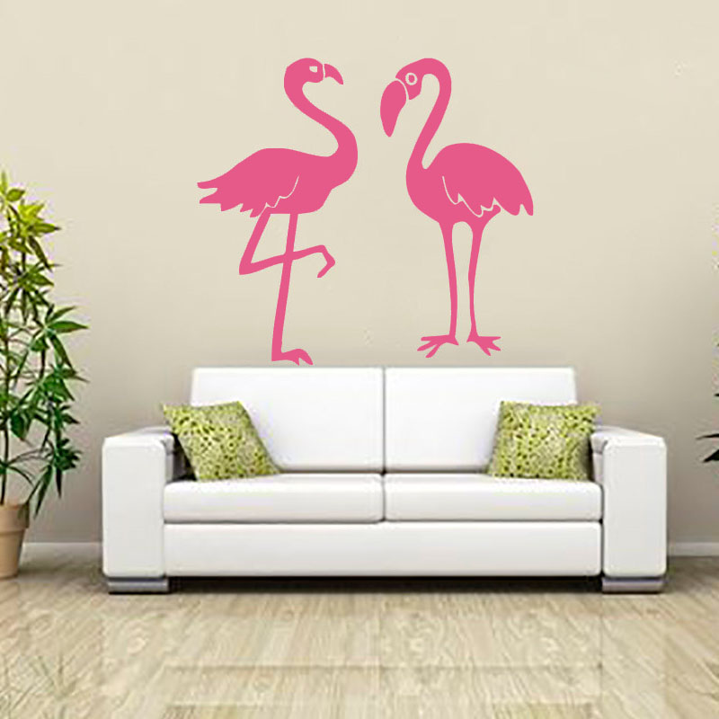 Flamingo Wall Sticker Vinyl Adhesive Home Decor Living Room Waterproof Kitchen Diy Wall Decal