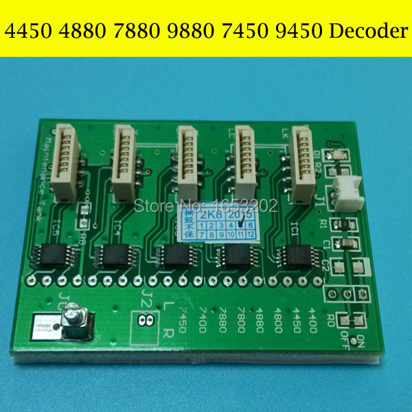 The best decoder For Epson Stylus PRO 4450 4880 7450 7880 printer chip decoder card best price 5pin cable for outdoor printer