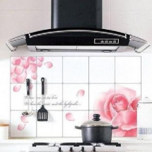 Анти-масляные кухонные плиточные наклейки высокая температура анти-дым действительно фольга обои паста плита 45*75