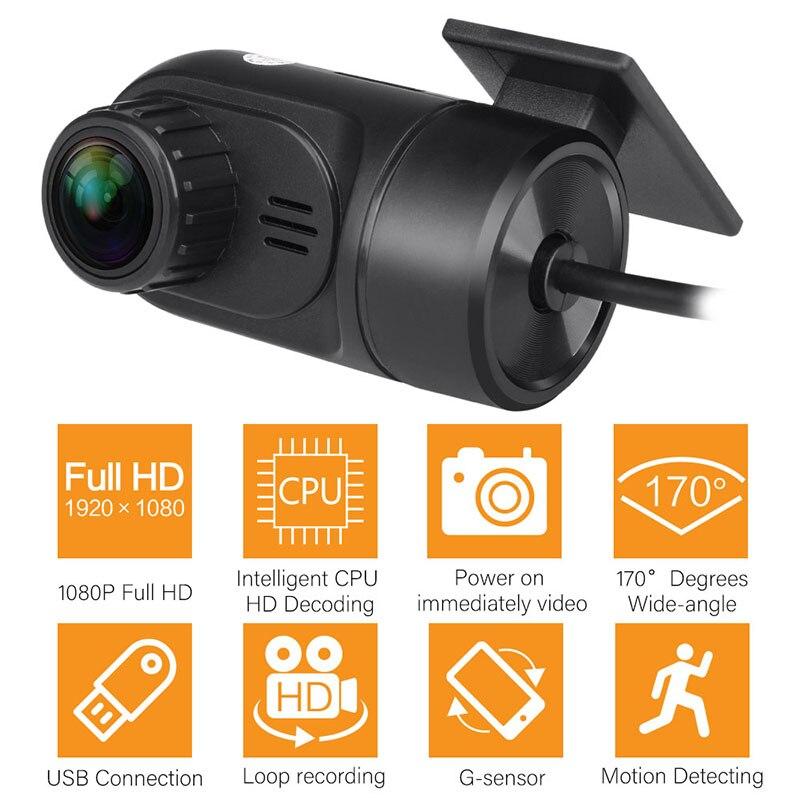 2018 Car Mini Dash Camera Car DVR 1080P 170 Degree Wide Angle Video Recorder Camera Dash Cam G-sensor Motion Detection Display