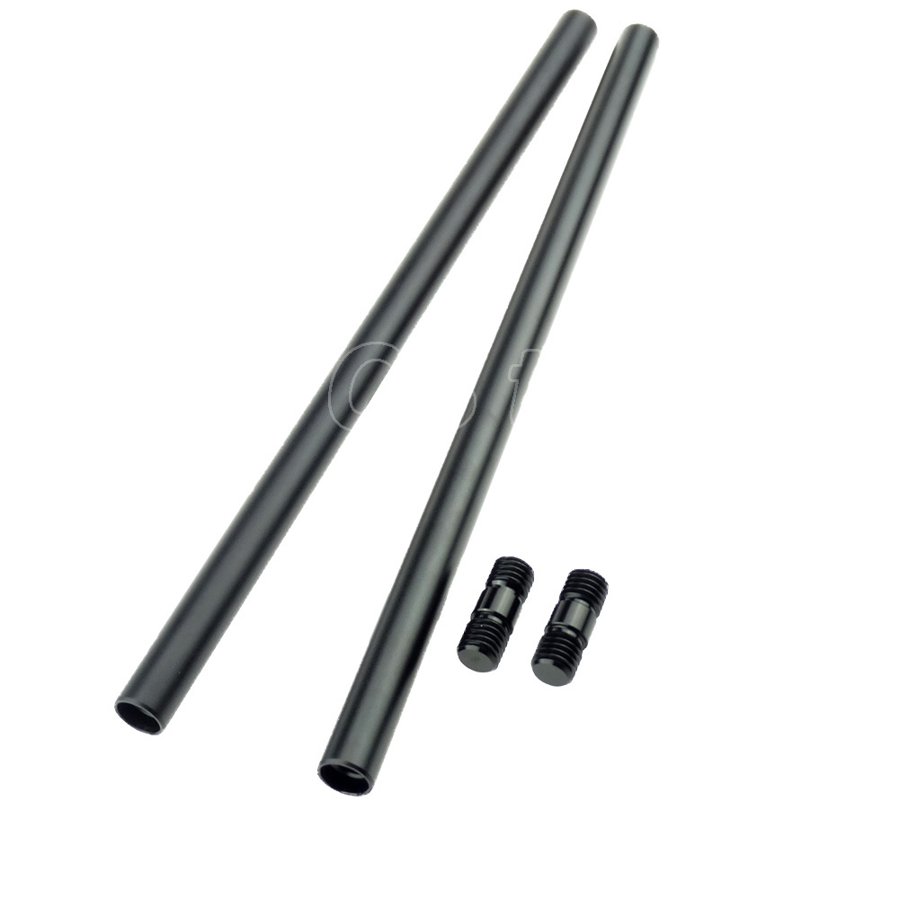 2PCS 30cm / 11.8 inch Long 15mm Rods with M12 Thread Rod connections Screw for DSLR Rods System Camera Rail Support Rods - 215 pro mark promark h rods hot rods