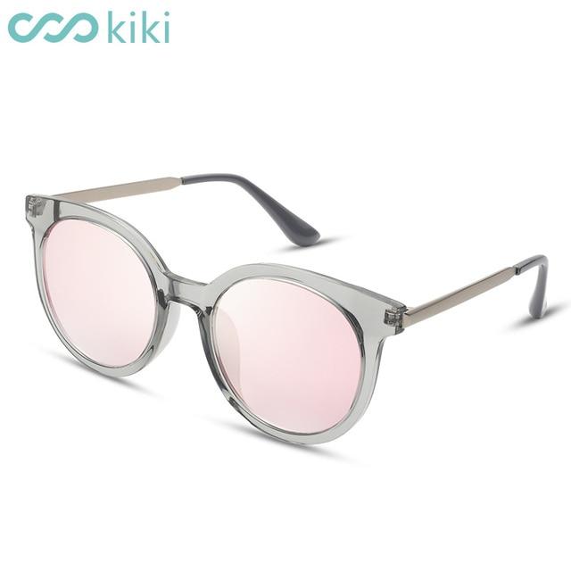 831c8159bf KIKI 2017 Women Men Polarized Sunglasses Round Brand Designer Pink Cat Eye  Glasses Driving UV400 gafas