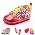 2016 Children Baby Shoes Sneakers Toddler Padded Gold Leopard Soft Sole First Walkers Prewalker Shoes Baby Boot Footwear
