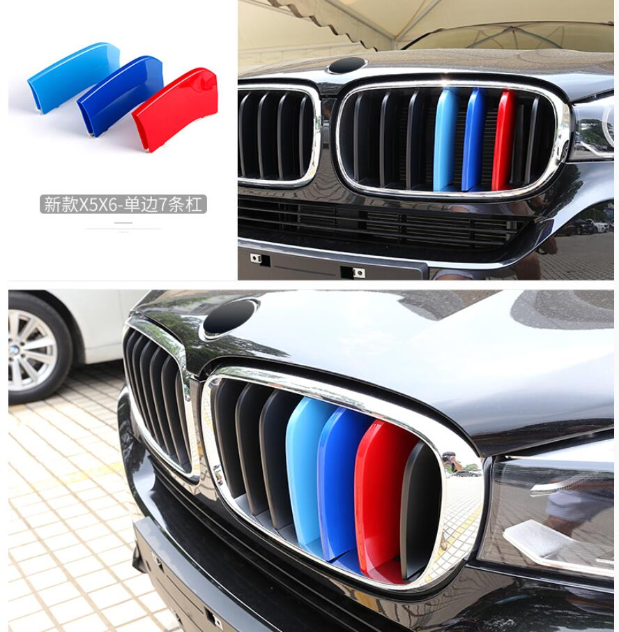 Lapetus Coloré Avant Grille Couvercle Couverture Kit De Moulage Accessoires Intérieur Pour BMW X5 F15 2014 2015 2016 / X6 F16 2015 2016 2017