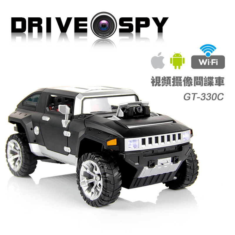 The new tablet phone WIFI wireless remote camera in real-time transmission of high-definition video tanks Hummer model wireless charger wifi remote control car with fpv camera infrared night vision camera video toy car tanks real time video call