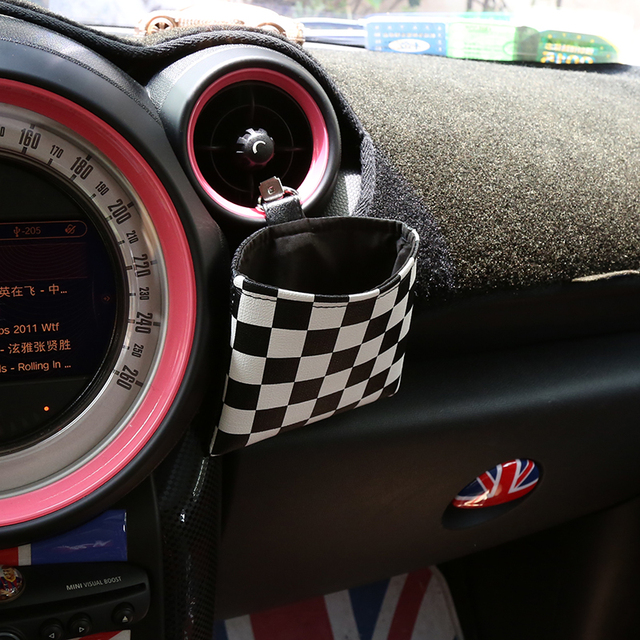 Car Union Jack Pu Leather Storage Bag For Mini Cooper S R56 F56 F54