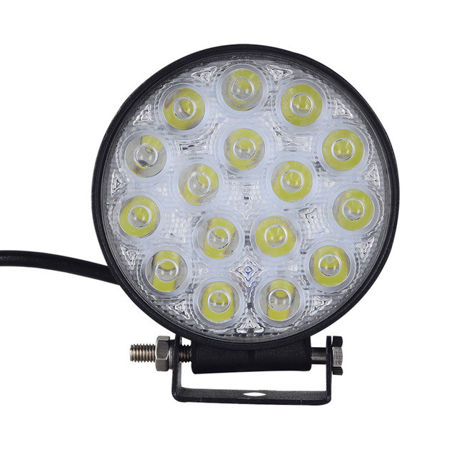 2pcs Geruite 48w Led Spotlight Round Car Lights For Truck Suv Boating Hunting Fishing Ip67 Waterproof Work Light Spot