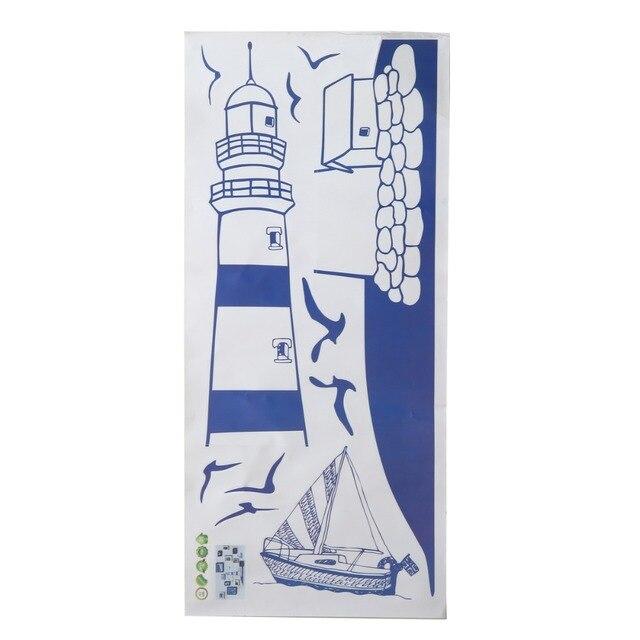 Us 123 20 Offniebieski Nad Morzem Latarnia Naklejki ścienne Mewa Naklejka Naklejki ścienne Dla Dzieci Sypialnia Salon Dekoracji Wnętrz W Niebieski