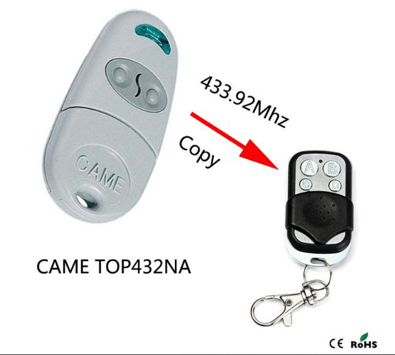 CAME TOP432NA Duplicator 433.92 mhz remote control Universal Garage Door Gate Fob Remote Cloning 433mhz Transmitter universal cloning cloner 433mhz electric gate garage door remote control key fob