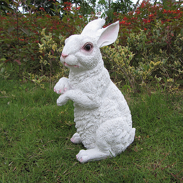 Big Size Resin Garden Rabbit Rornaments Crafts Garden Sculpture Bug Bunny  Simulation Animal Artificial Rabbit Decor On Aliexpress.com | Alibaba Group
