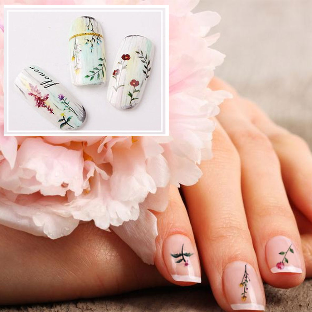 Easy Fall Nail Decoration: Fashion Simple Nail Transfer Stickers, 3D Nail Tips