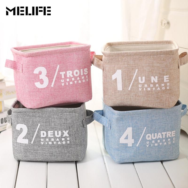 MELIFE 4PCS Waterproof Linen Organizer Cosmetic Storage Bags Women Travel Professional Storage Brush Necessaries Make Up Case
