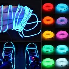 2 3 5 м водонепроницаемая светодиодная лента свет неоновый свет светящийся EL провод веревка трубка кабель+ контроллер батареи для украшения автомобиля Рождественская вечеринка