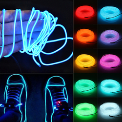 2 3 5m Waterproof LED Strip Light Neon Light Glow EL Wire Rope Tube Cable+Battery Controller For Car Decoration Christmas Party