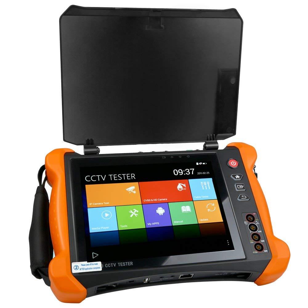 8 Inch H.265 4K HD IP CCTV Tester Monitor CVBS AHD CVI TVI SDI Camera 8MP MultimeterOptical fiber VFL TDR WIFI ONVIF HDMI Input цены