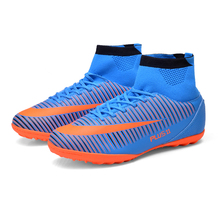 High Ankle Men Football Shoes Plus Size Football Boots Training Soccer Shoes High Top Soccer Cleats Boots Male chuteira futebol-in Soccer Shoes from Sports & Entertainment on Aliexpress.com | Alibaba Group