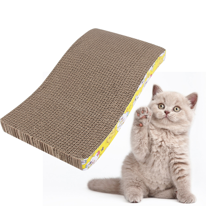 2017 Pet Scratch Board S-shapped Cat Scratch Board Scratching Posts Kitten Corrugated Scratch Pad Claw Pad Cat Toy