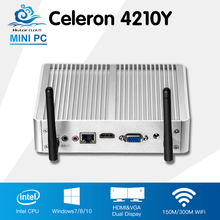 Безвентиляторный мини-компьютер Intel Core i5 4210Y Windows 10 Linux computadora Desktop HD Graphics 4200 HTPC TV Box Barebone мини ПК