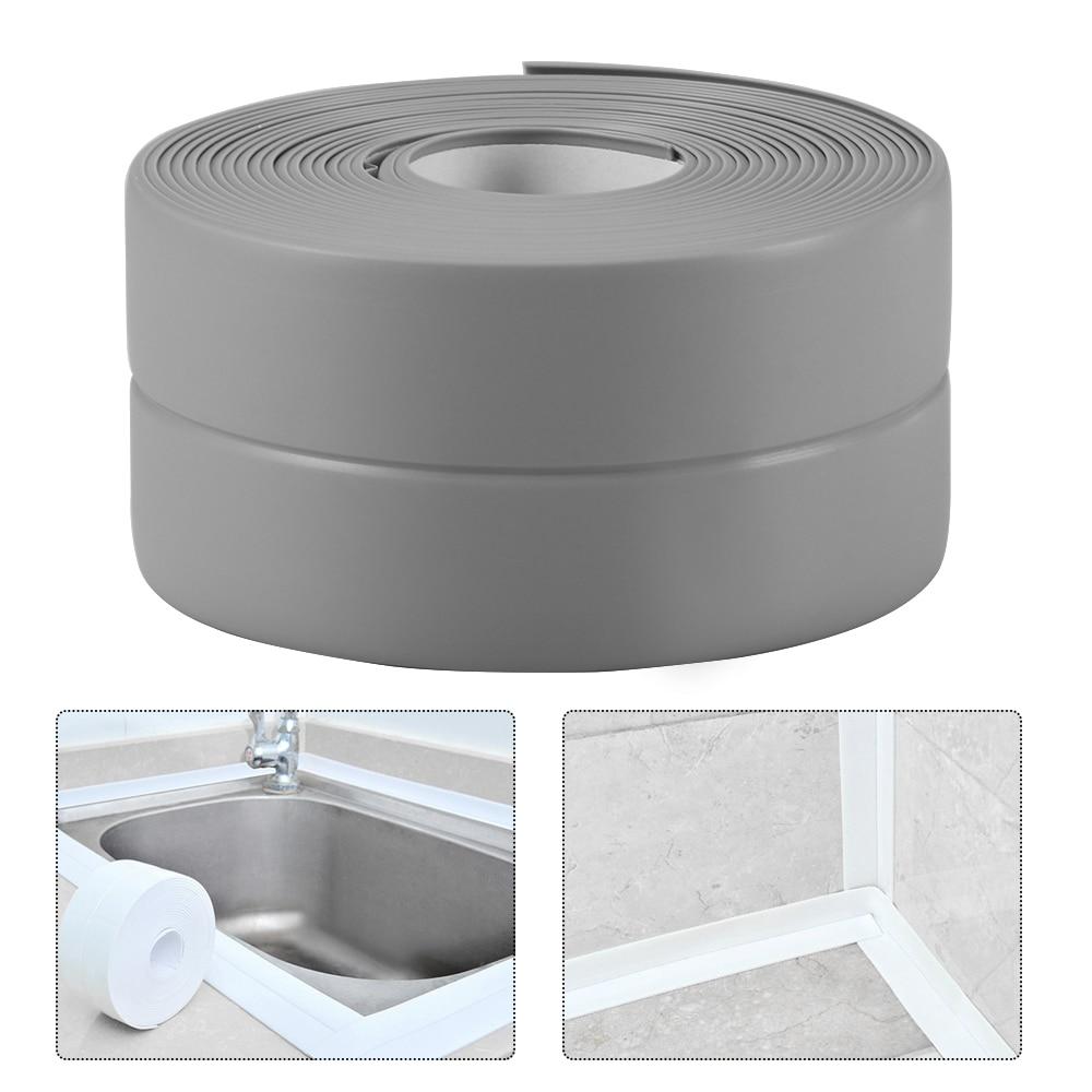DIY Caulk Strip Self Adhesive Repair Mildew Tape Wall Edge Corner Bathtub Kitchen Sealing Strip For Washroom Ceramic Sticker