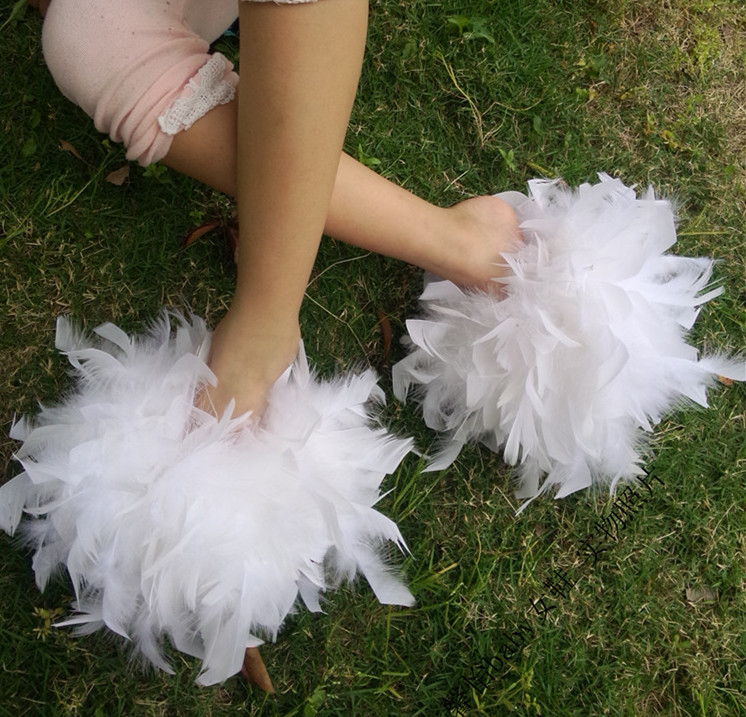 Qulity Fur Flip Flops Women Sweet Platform Wedges Sandals Ostrich Feathers Slippers 2017 Summer Platform Thongs Beach Slippers garda decor тумба прикроватная зеркальная