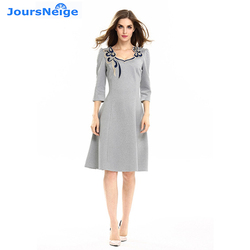 Womens new font b fashion b font embroidery patchwork a line dress wear to work bodycon.jpg 250x250